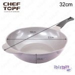 Korea Chef Topf La Rose Wok 32cm