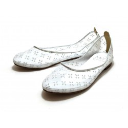 Mywarisa Daisy (Silver) Flat Shoes, Japanese Design, Hand-made in Thailand