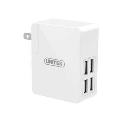 Unitek Y-PW10001 24W 4-Port USB Universal Travel Wall Charger