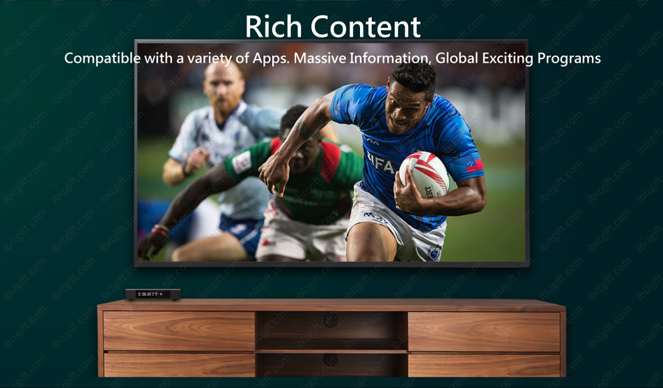 Boss TV V3 Set-top Box - Rich Content Compatible with a variety of Apps. Massive Information, Global Exciting Programs
