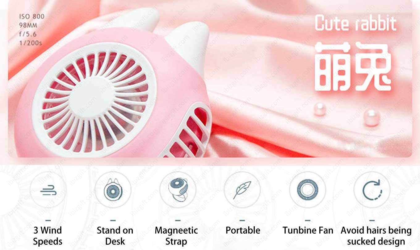 Outlines Turbo USB Handheld Small Fan (Mini Fan) has 3 wind-speed.