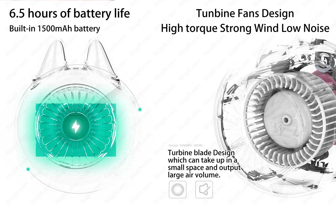 Outlines Turbo USB Handheld Small Fan (Mini Fan) - Turbine Blade Design Fan